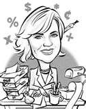 woman accountant cartoon