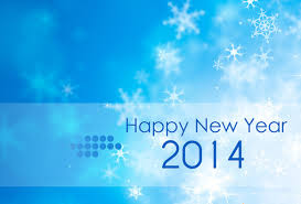 Happy New Year 2014 Blue Background