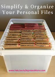 Organize Personal Files