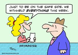 Withholding Tax Payroll Cartoon