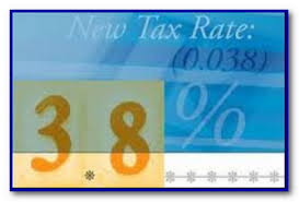 New Tax Rate 3.8% Net Investment Tax