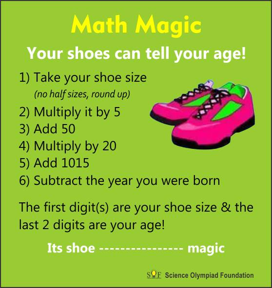 Math Game with Shoe Size and Age