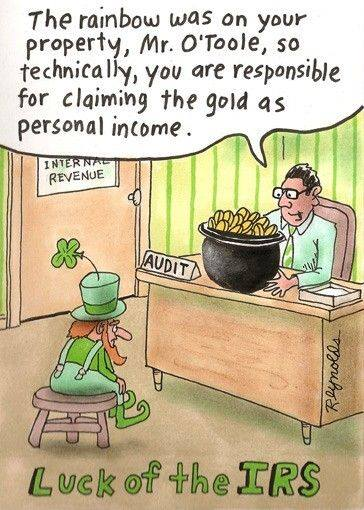 IRS ST Patricks Day Cartoon